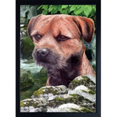 BORDER TERRIER 3D FRIDGE MAGNET